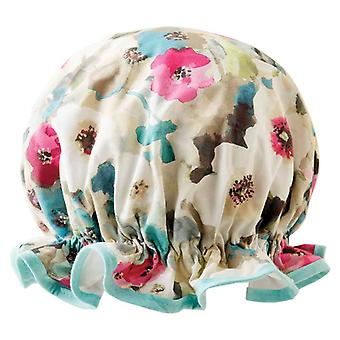 Dilly Daydream Watercolour Flowers Shower Cap