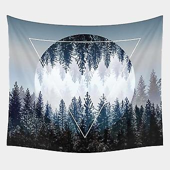 Beautiful Forest Starry Night And Night Sky Wall Tapestry