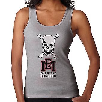 East Mississippi Community College Dark Skull Logo Women's Vest