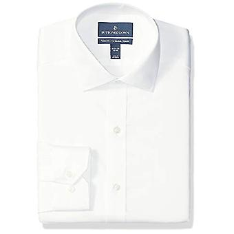 BUTTONED DOWN Men's Tailored Fit Spread-Collar Micro Twill Non-Iron Dress Shi...