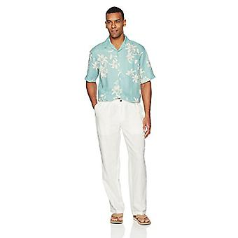 28 Palms Men's Relaxed-Fit Linen Pant with Drawstring, Cream, X-Large/30