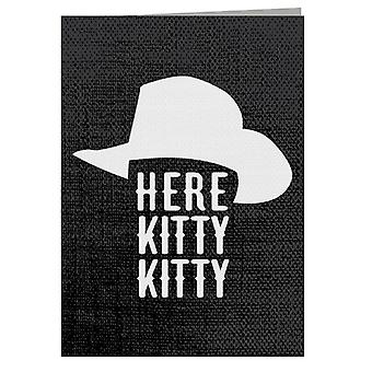 Tiger King Here Kitty Kitty Joe Exotic Greeting Card