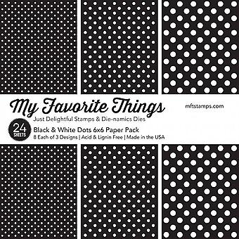 My Favorite Things Black & White Dots 6x6 Inch Paper Pad