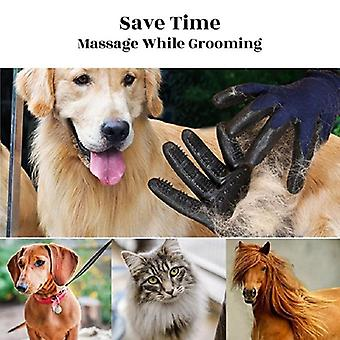 Soft Rubber Pet Hair Remover/grooming Glove For Cats - Dog, Horse Shedding