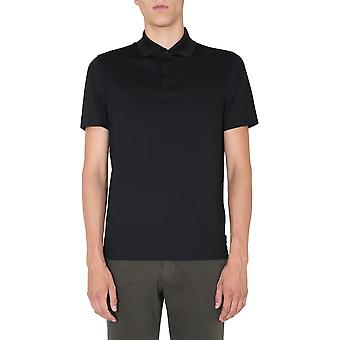 Z Zegna Vv348zz670k09 Men'camisa polo de algodão preto