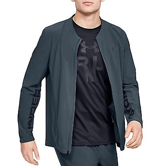 Under Armour Mens Storm Launch Linked Up Long Sleeve Full Zip Track Jacket Grey