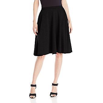 Star Vixen Women's Knee Length Full Skater Skirt, Black, X-Large