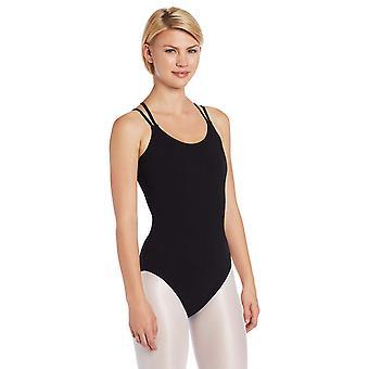 Capezio vrouwen ' s klassieke dubbele riem hemd leotard, zwart,, zwart, grootte groot