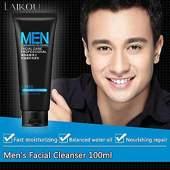 Men Face Washing Facial Scrub, Natural Face Wash Cleanser For Oily And Acne