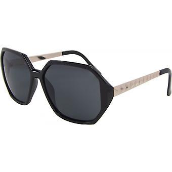 Sonnenbrille Unisex  rechteckig Kat. 3 schwarz/grau (14-507-A)
