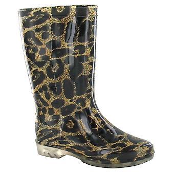 Spot sur Womens/dames bottes impression léopard