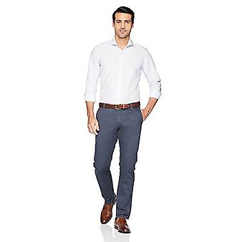 BUTTONED DOWN Men's Slim Fit Supima Cotton Cutaway-Collar Pattern Dress Casua...