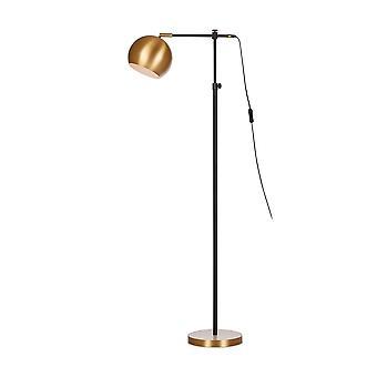 1 Lichte indoor taakvloerlamp zwart, E27