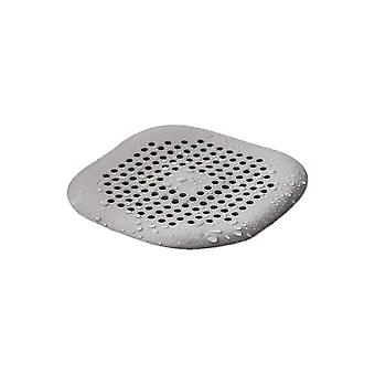 2PCS Silicone Tube Drain Stopper Shower Drain Covers 14x14cm Gray