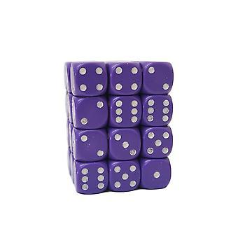 Chessex Opaque 12mm D6 Block - Purple/white