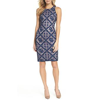 Adrianna Papell | Floral Diamond Lace Cutaway Sheath Dress