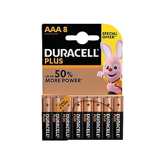 Duracell AAA Cell Plus Power RO3A/LR0 Batteries (Pack 8) MN2400B8