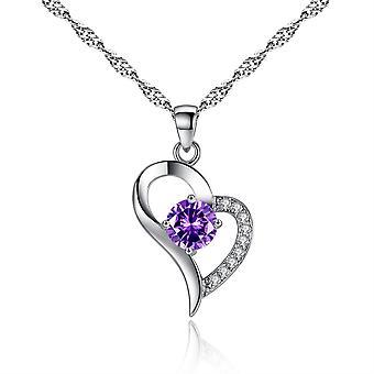 Fashion Heart Diamond Pendant Necklace