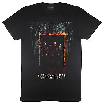 Supernatural Leading Men Poster Women's Boyfriend Fit T-Shirt