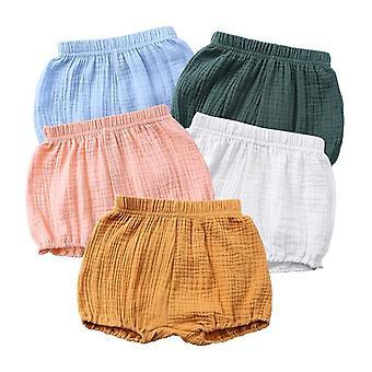 Pantalon court en coton élastique