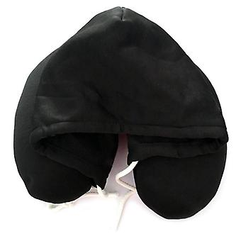 Hooded travel neck pillow support u-shaped eye mask