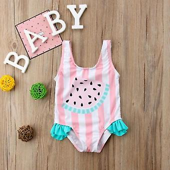 Newborn Baby Swimwear, Watermelon Striped Swimsuit Swimming