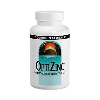 Source Naturals OptiZinc Zinc Monomethionine, 30 MG, 240 Tabs