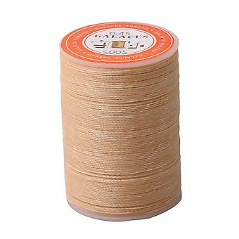 Beige Waxed Linen Thread Cord for Hand Craft DIY Sewing Stitching