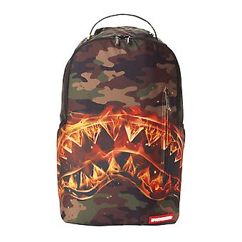 Sprayground Fire Shark Backpack - Camo