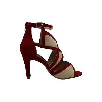 Rialto Womens Ria Suede Peep Toe Bridal Ankle Strap Sandals