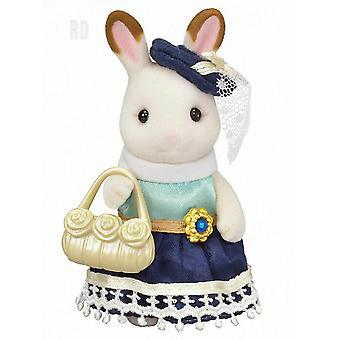 Sylvanian Families 6002 Chocolate Rabbit Town Girl Series Playset, New