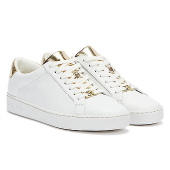 Michael Kors Irving Womens White / Gold Trainers