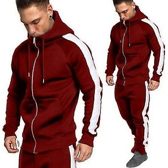 Herfst/winter Heren's Cardigan Sweater Sports Suit 2 Piece Set Casual Jogging Men's Hoodie