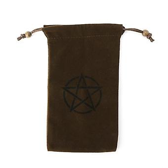 Pentagram Tarot Storage Bag For Board Game Card, Embroidery Drawstring