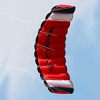 1.4m dual Line Parachute Stunt Kite Outdoor Fun Fly With Flying Tool (red)