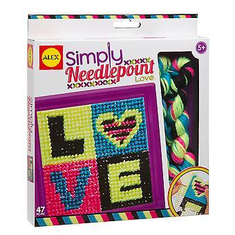 Alex hračky 551000-3 jednoduše needlepoint láska řemeslo