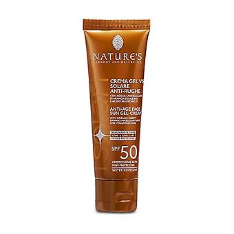 Anti-wrinkle sun face gel cream SPF50 50 ml of cream