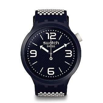 Swatch SO27N101 Big Bold BBCREAM Navy Siliconen Horloge