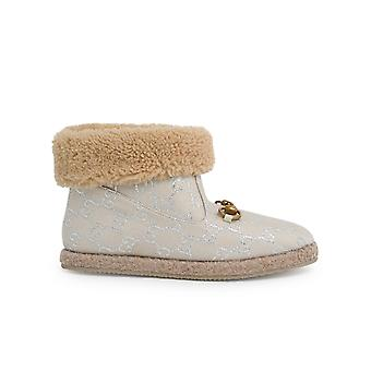 Gucci 6290862c8109152 Women's White Wool Ankle Boots