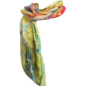 Bright Summer Green Cashmere Mix Ladies Scarf by Butterfly Fashion London