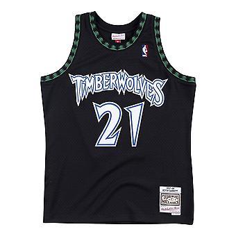 Mitchell & Ness Kevin Garnett 97 Nba Swingman Jersey SMJYGS18392MTIBLCK97KGA basketball hele året menn t-skjorte