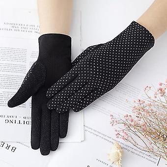 Uv de protecție solară scurt soare mănuși de sex feminin moda gheata dantela de conducere de subțire
