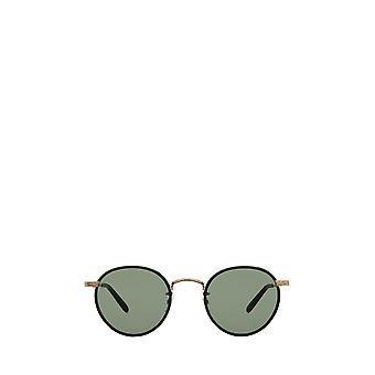 Garrett Leight WILSON SUN black-gold unisex sunglasses