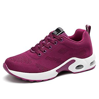Femmes & s Air Cushion Sneakers Chaussures Pourpres