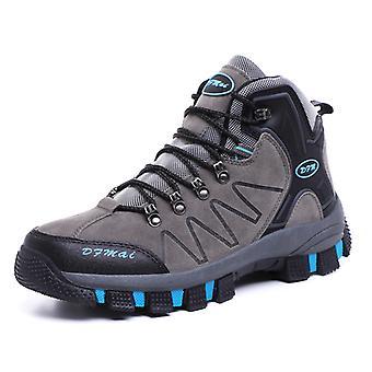 Hombres al aire libre's botas de senderismo impermeables gris