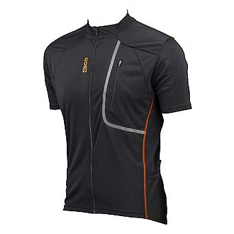 Eigo Trek Mens Short Sleeve Cycling Jersey Black / Orange