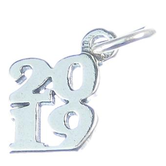 2019 Year Sterling Silver Charm .925 X 1 Years Graduation Birthday Charms - 4196