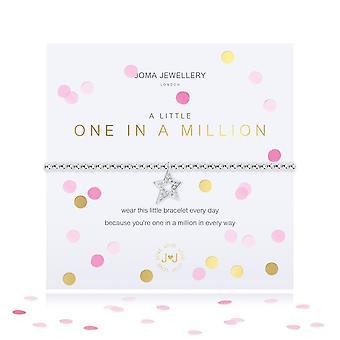 Joma مجوهرات قصاصات الورق واحد قليلا في مليون الفضة 17.5cm تمتد سوار 4339