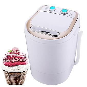 Kleine Mini-Waschmaschine, halbautomatisch mit Spin-Trockner, Dehydrierungstrockner