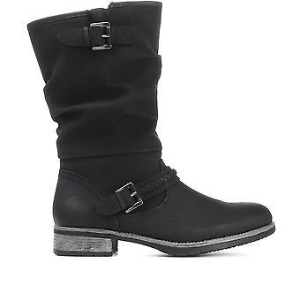 Rieker Womens Mid-Calf Slouch Boot